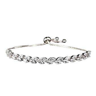 Cubic Zirconia Collection - Classic Crystal Bracelet - Silver