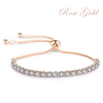 Cubic Zirconia Collection - Crystal Sparkle Bracelet - Rose Gold