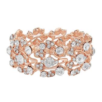 Shimmer Stretch Bracelet - Rose Gold