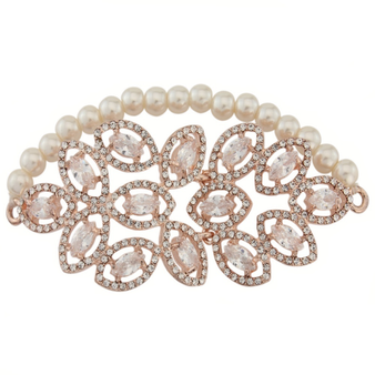 Statement Stretch Bracelet - Rose Gold