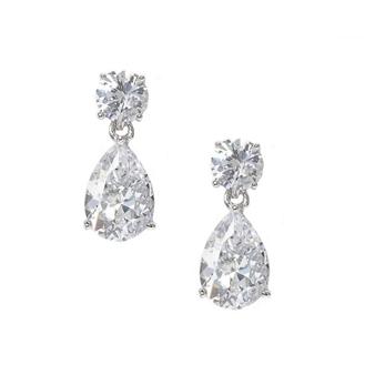 Chic cubic zirconia dainty gem earrings