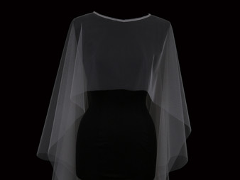 English tulle capelet