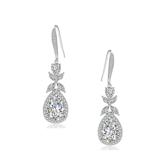 embellished with high quality clear crystals on a silver finish.