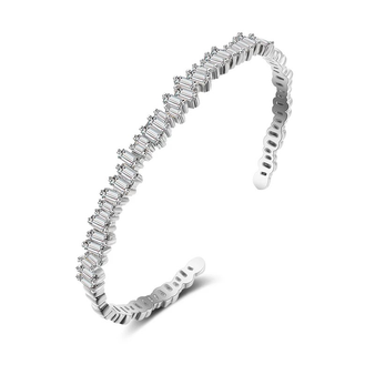 embellished with high quality clear cubic zirconia crystals on a gold finish.