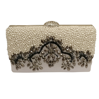 Vintage silver wedding clutch.