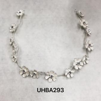 Flower headband in silver