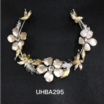 Two-tone flower headband