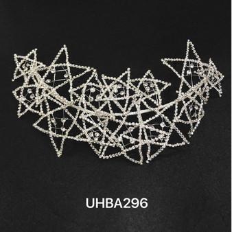 Stars rhinestone headband in silver