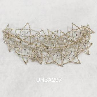 Stars rhinestone headband in gold
