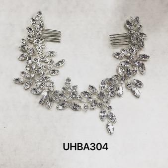 Dainty rhinestone silver headband