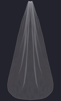 English tulle veil with beaded and rhinestone edge.