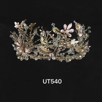 Crystal & floral tiara