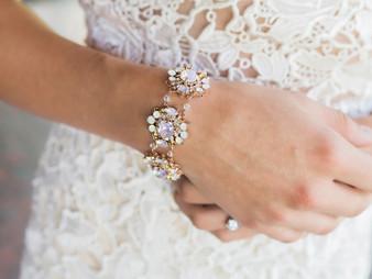 Rhodium plated rhinestone bracelet BL1976