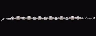 Pearl bead and fireball bracelet BL1653