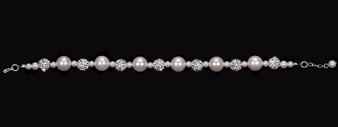 Pearl bead and fireball bracelet BL1653
