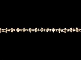 Embellished gold belt BT4604