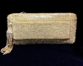 Beaded Gold Purse with Tassels TRBA27