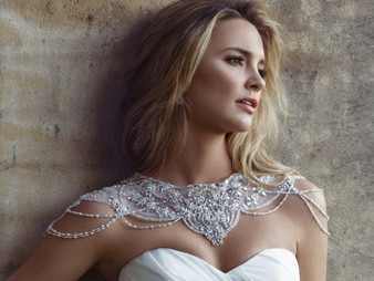 Beaded Jacket over Tulle J1508