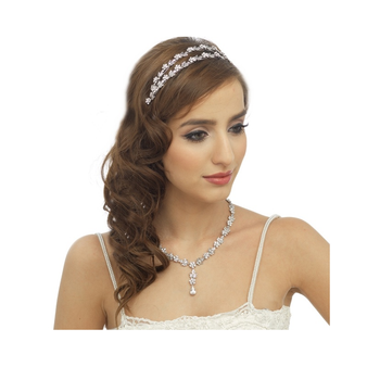 Elite Collection - Crystal Shimmer Headband - Clear (HB245)