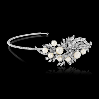 Elite Collection - Vintage Pearl Headband - Ivory (HB252)
