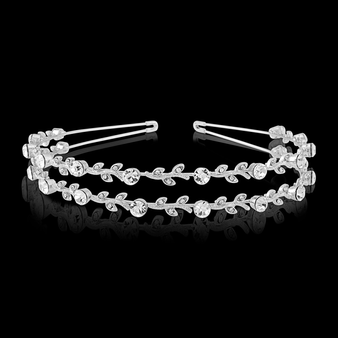 Crystal Chic Headband - Double Row (S-HB300)