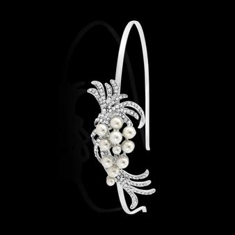 Chic Pearl Headband - HB401 (Silver)