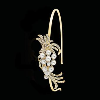 Chic Pearl Headband - Gold - HB401