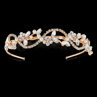 Vintage Chic Hair Band - Ivory HB403 (Rose Gold)