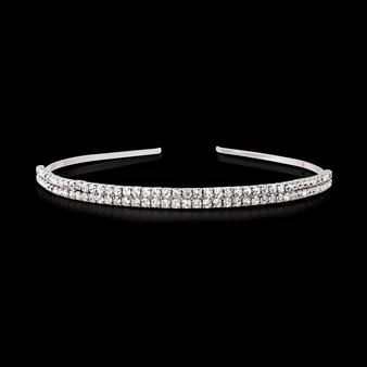 Two Row Crystal Headband - Clear (HB1639)