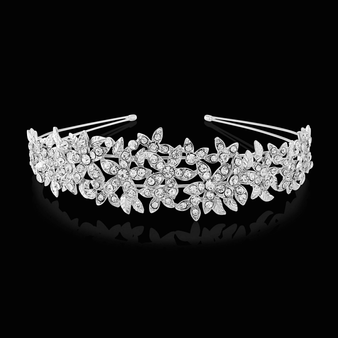 Crystal Couture Headband - Silver (HB1641)
