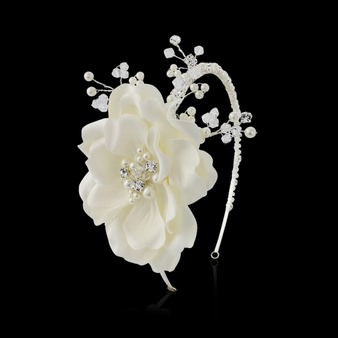 Elsie Extravagance Flower Headband Ivory - HDB36