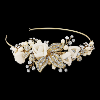 Clara Romantic Headband Gold - HDB6