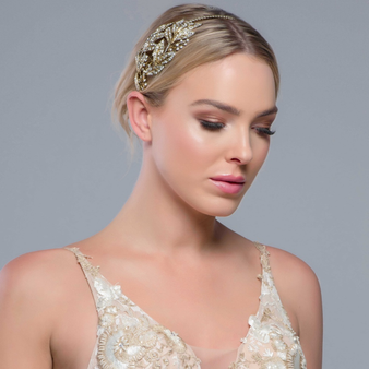 Sheer Opulence Headband - HDB313 (Antique Gold)