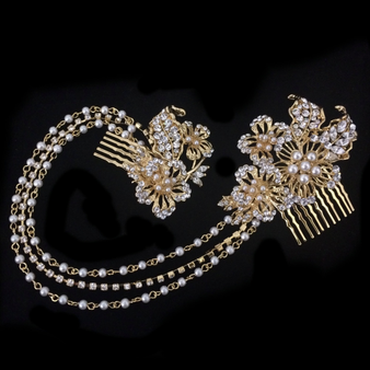 Elite Collection - Starlet Luxe Headpiece - HP120 Gold