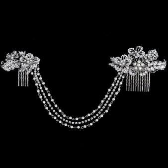 Elite Collection - Exclusive Starlet Luxe Headpiece - HP120 Silver