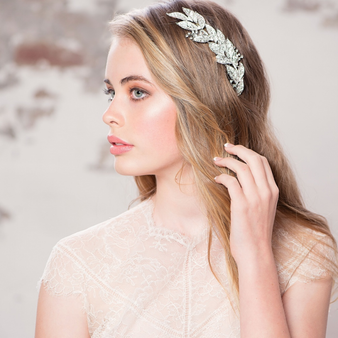Elite Collection - Grecian Style Bridal Headpiece - HP121 Gold (Photo for size reference only. Model seen here is wearing silver)