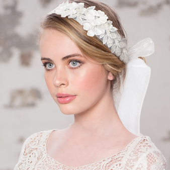 Exquisite Embellished Ribbon Headband LH3