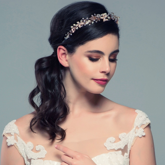 Jasmine - Romantic Vine Headpiece - Rose Gold