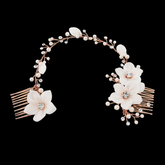 Anais Bohemian Chic Headpiece - Rose Gold
