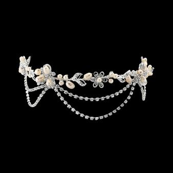 Gatsby Bejewelled Headpiece - Silver