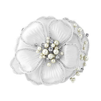 Serenity Chic Pearl Comb Headpiece- Ivory