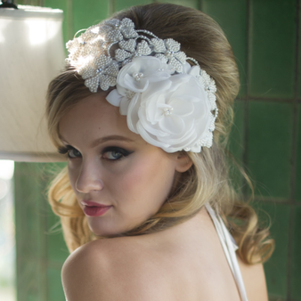 Juliana Headpiece - Ivory