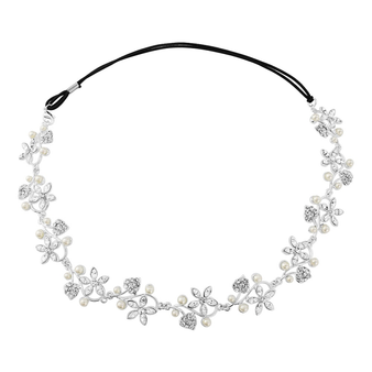 Marielle - Pearl Garland Headpiece - Ivory