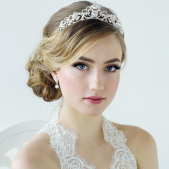 Davina - Bejewelled Tiara - Silver