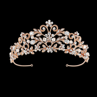 Rochelle Enchantment Tiara - Rose Gold
