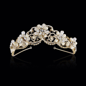 Adelina - Exquisite Treasure Tiara - 14K Gold