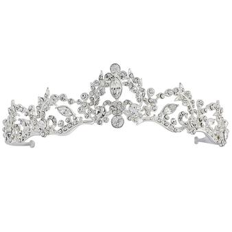 Lavina Tiara - Crystal Embellished - Silver