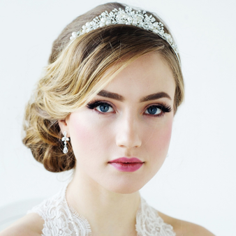 Tess Luxe Pearl Tiara - Silver