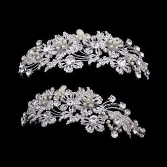 Elite Collection - Enchanting Pearl Tiara - Silver