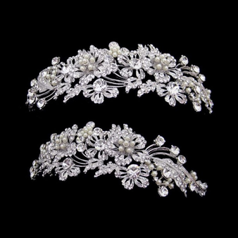 Elite Collection - Enchanting Pearl Tiara - Silver
